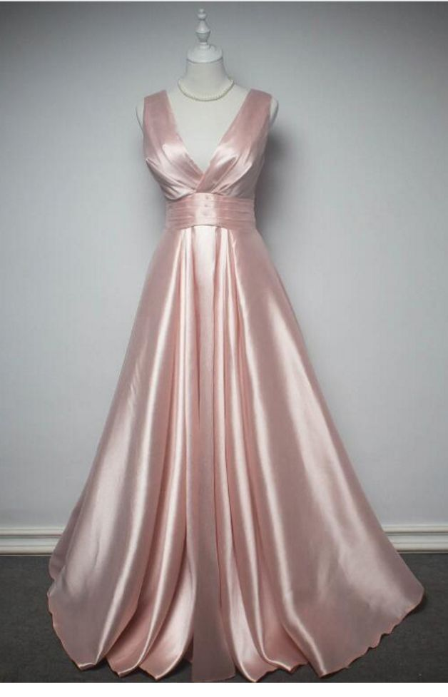 Pink Evening Dress Prom Dress Custom Made Prom Dresses, Pink Formal Gowns