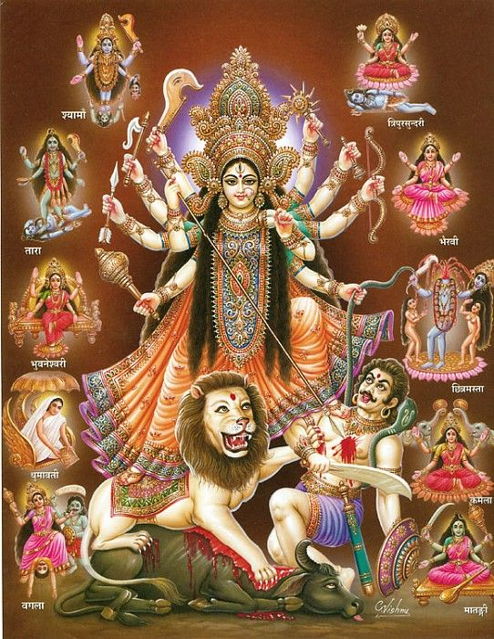 Goddess Durga - Hindu Posters (Reprint on Paper - Unframed)