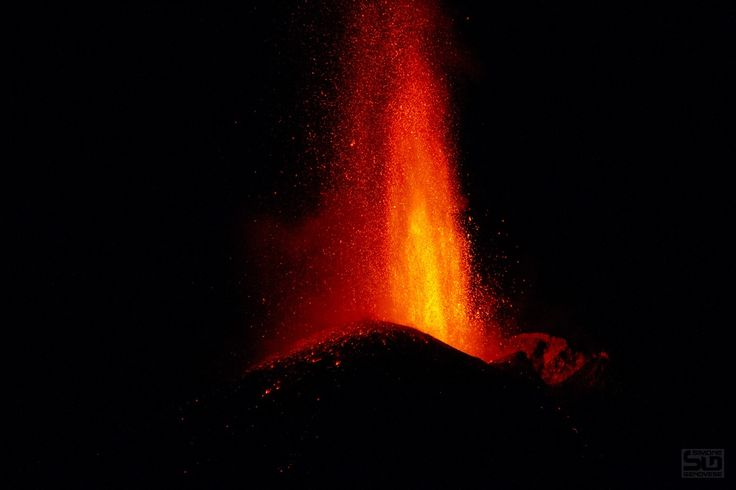 "Night Eruption - Night Eruption on Mount Etna. beautiful lava fountains from the Southeast Crater October 2013 <a href=""https://www.facebook.com/simonegenovesephoto?ref=hl"">Simone Genovese Facebook</a> <a href=""https://www.instagram.com/genovesesimone/?ref=hl"">Instagram</a> 