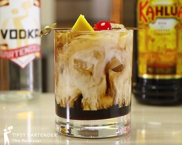 What alcohol mixed drink has Kahlua, vodka and Coca-Cola?