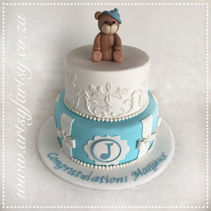 Teddie Bear Baby Shower Cake #teddiebearbabyshowercake
