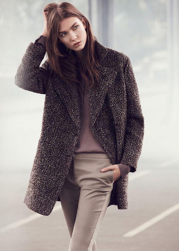 Mango's tweed coat for a sophisticated tomboy look.