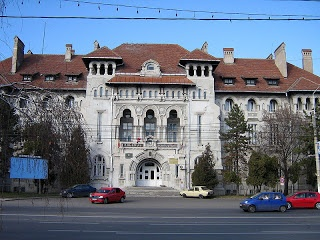 Monumental administrative building in Braila, Romania which was once a prosperous port city for exporting cereals with a charming mix of populations