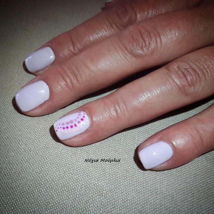 nailart~handmadenails~pastel nails~dots ~polkadots