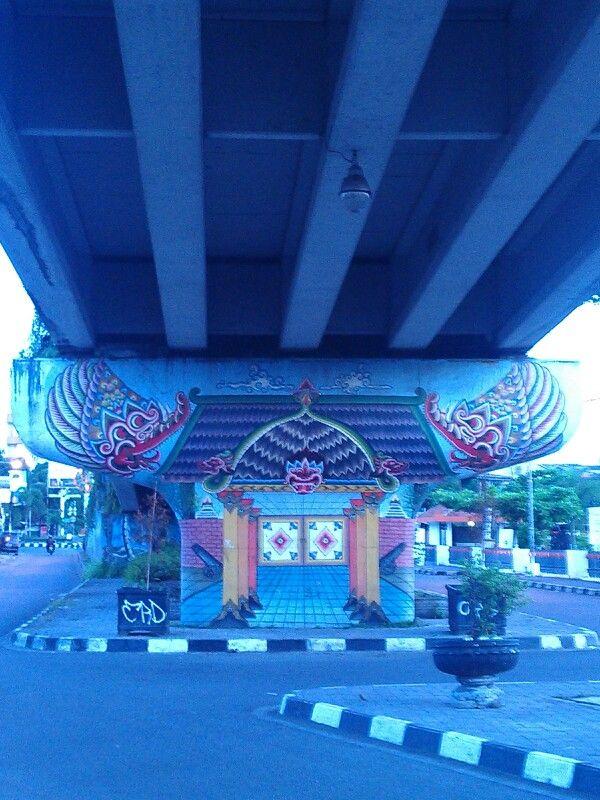 Mural under the bridge