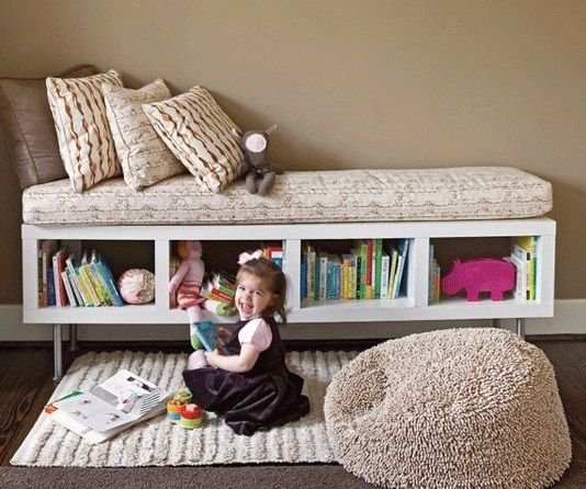 DIY Storage Bench From IKEA Shelf