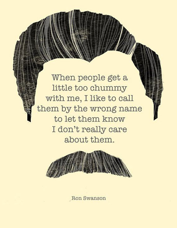 Looove me some Parks & Rec. Chummy Ron Swanson Illustrated Original Print by hazelvaranese, $15.00