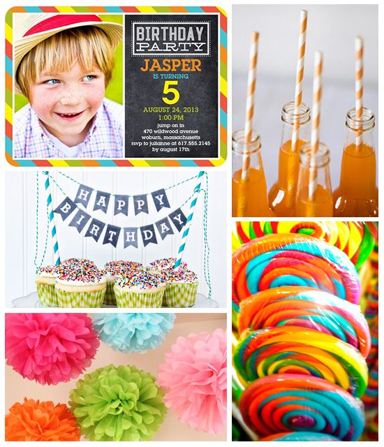 Colorburst Birthday Party Inspiration Board on the Tinyprints Blog