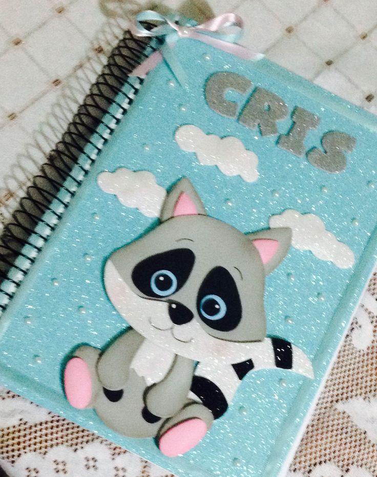 Caderno personalizado de Guaxinim