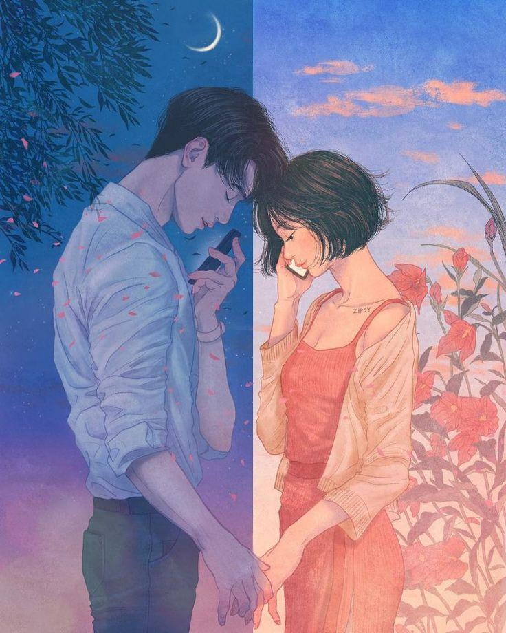Аниме картинки любовь на расстоянии