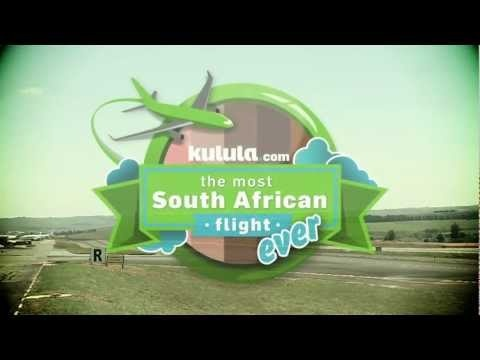 kulula.com invite locals to join their Most South African Flight Ever in January 2013. #video #mostSAflight