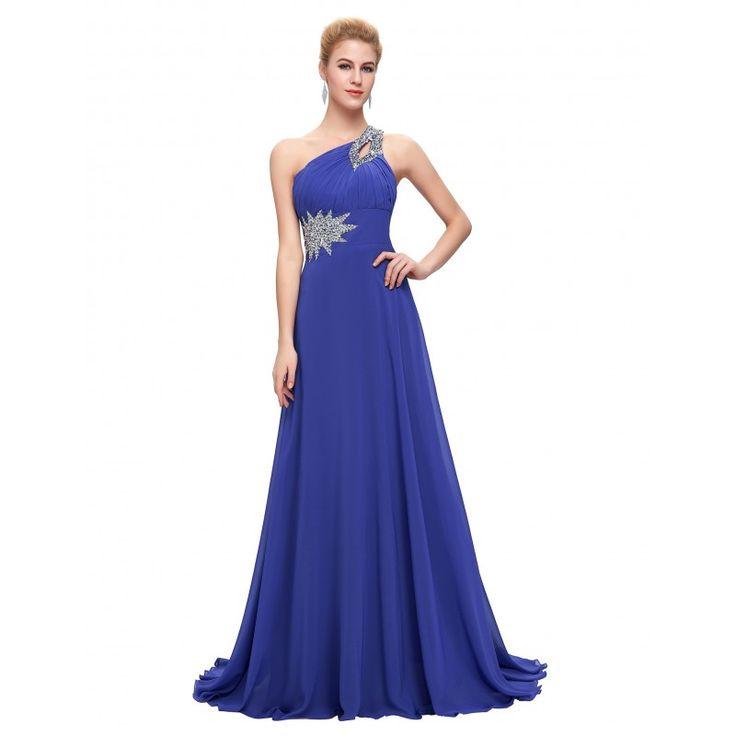 Tmavomodré spoločenské šaty CL2949