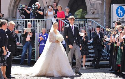 Earlier today, Hereditary Prince Ernst-August of Hanover married his long-time girlfriend Ekaterina Malysheva in a religious ceremony ...