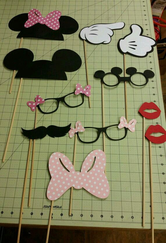 Mickey Mouse themed party photo booth