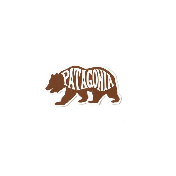 Patagonia Patagonia Bear Heven Sticker beaheaven sticker 91919 ($0.99) ❤ liked on Polyvore featuring home, home decor, office accessories, bear stickers and patagonia