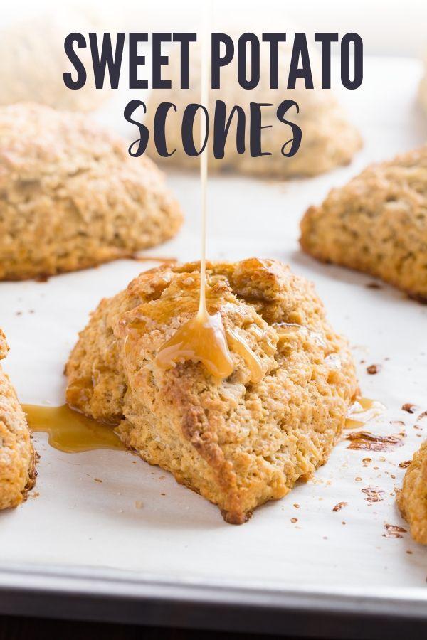 Honey Citrus Sweet Potato Scones Recipe Scones Baking