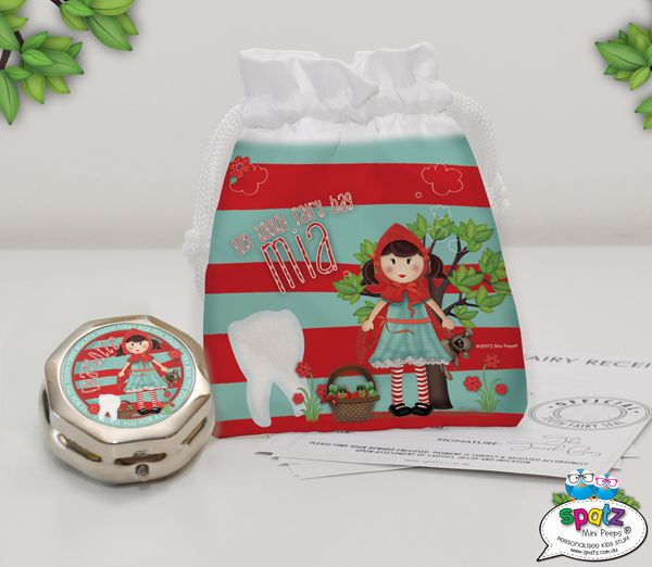 Personalised Kids Tooth Fairy Bags & Tooth Fairy Boxes - SPATZ Mini Peeps®
