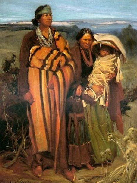 Navajo Family ~ by Ira Diamond Gerald Cassidy (1879-1934) ~ American Gallery