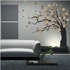 Love this for behind the couch.... I'm obsessed with trees on my walls!