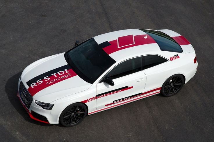 Audi RS 5 TDI Concept -  technology study powered by a 3.0-liter V6 TDI biturbo engine boosted by an electrically driven turbocharger to 380hp (385PS) and 750 Nm (553 lb-ft) of torque, 44.4 MPG.