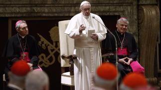 Papst Franziskus bei seiner Weihnachtspredigt im Petersdom in Rom