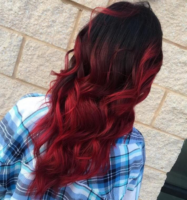 Soft Red Ombre Hair Color Red Ombre Ombre Hair Color Dyed Hair Ombre