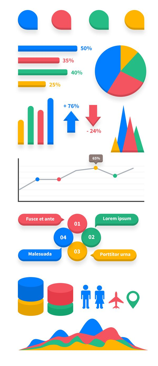 TweetSumoMe Today's fantastic freebie is an infographic elements kit in PSD vector format. The kit contains several commonly used elements to create infographic designs. The flat-style kit is a full vector PSD file with bright