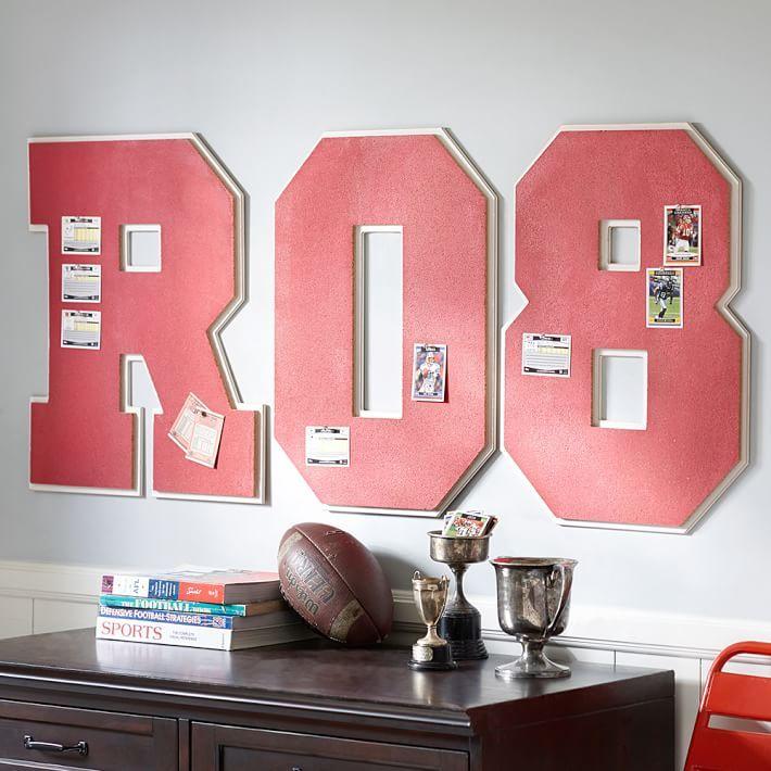 138 best Varsity Bedroom images on Pinterest   Boy rooms, Little ...