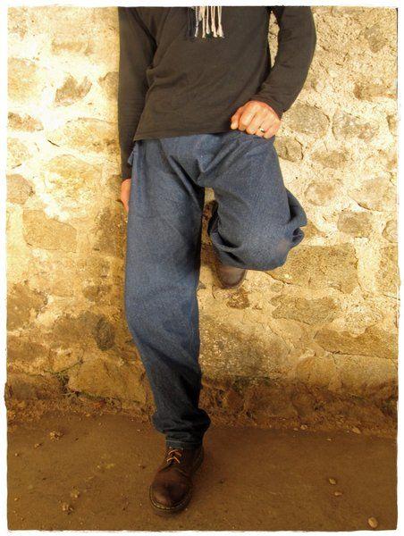 Baggy en jeans homme - Baggy sarouel jean  de Khoutûre Factory - Robes, tuniques, sarouels sur DaWanda.com