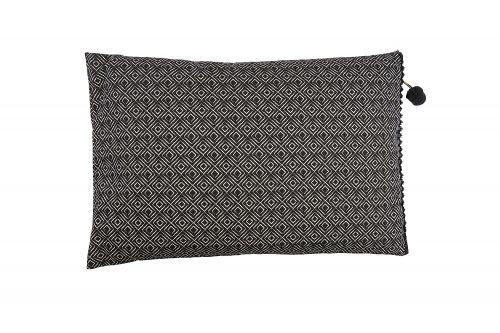 AFFARI Kissenhülle Amir 40x60 Viereck schwarz - mit Reißverschluss #romodo.de