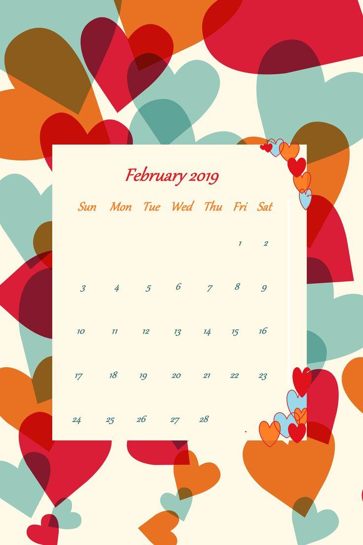 February 2019 Heart iPhone Wallpaper | Homemaking in 2019 ...
