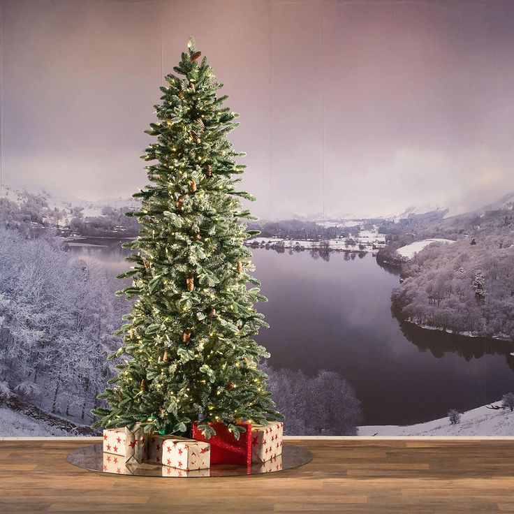 7ft Frosted Dover Blue Spruce Slim FeelReal Artificial