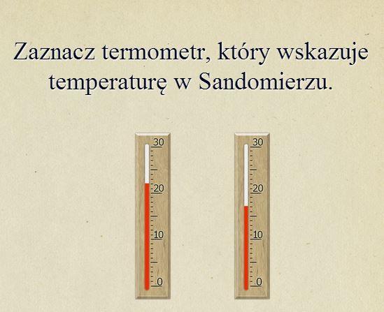 wskazywanie temperatury