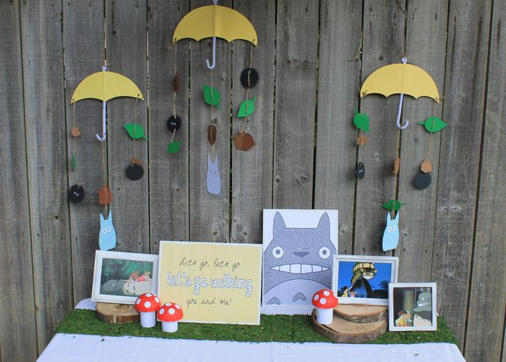 My Neighbor Totoro party decorations by onecraftyfoxx on Etsy