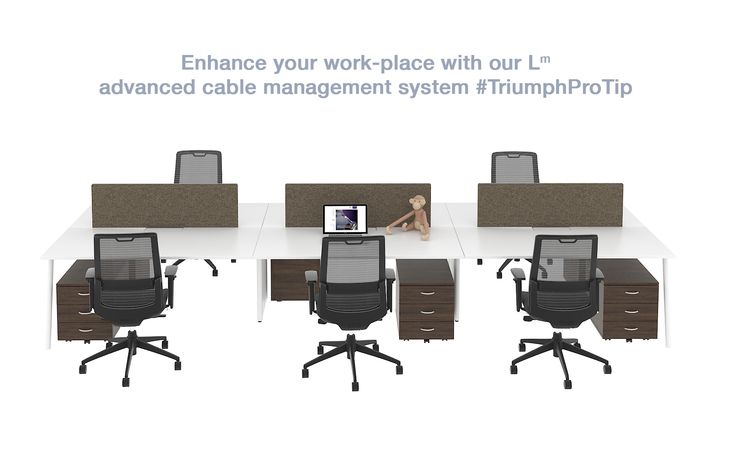 Pro tip: Enhance your work-place with our Lm advanced cable management system.