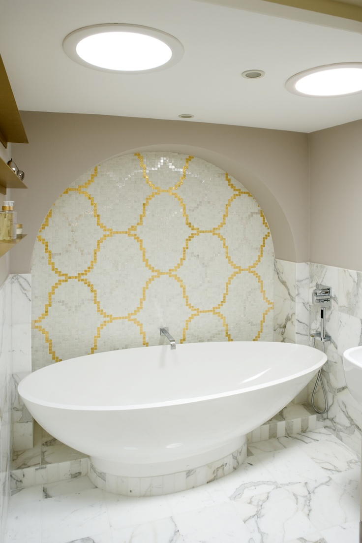 Bisazza Yellow Mosaic Tiles In The Bathroom. What Do You Think? Photography  © David