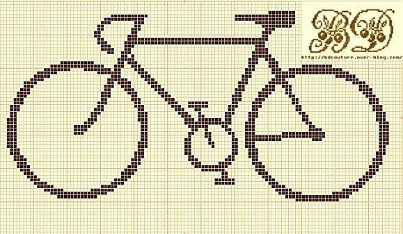 Bicycle cross-stitch pattern.