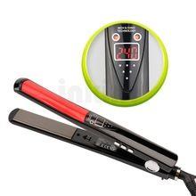 Display lcd titanium placas flat iron irons alisamento styling tools professional alisador de cabelo flutuante placa cerâmica 47 alishoppbrasil