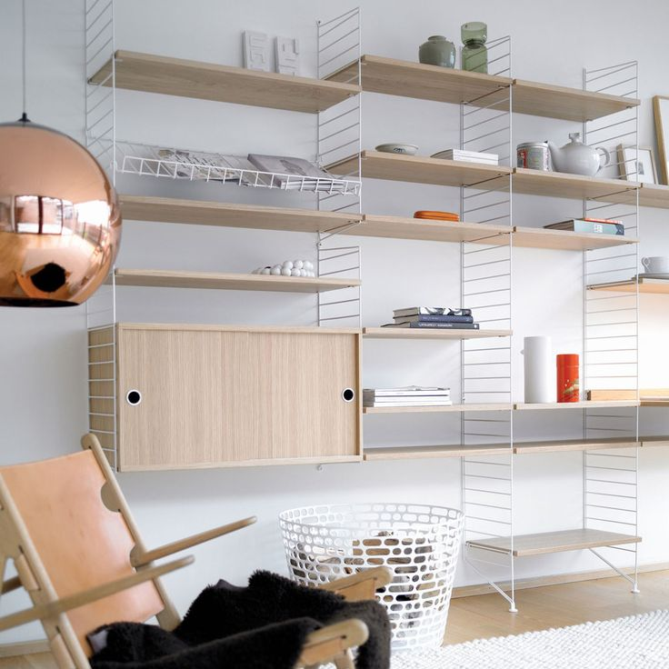 haus london String shelving system by Nils Strinning