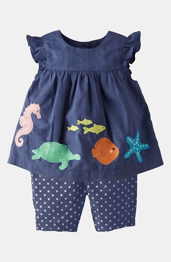 Buscar outlet, algo asi para 9 o 18 Mini Boden Summer Embroidered Top & Leggings (Infant) available at #Nordstrom