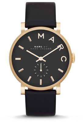 Black Leather Watch by Marc by Marc Jacobs. Buy for $175 from Neiman Marcus