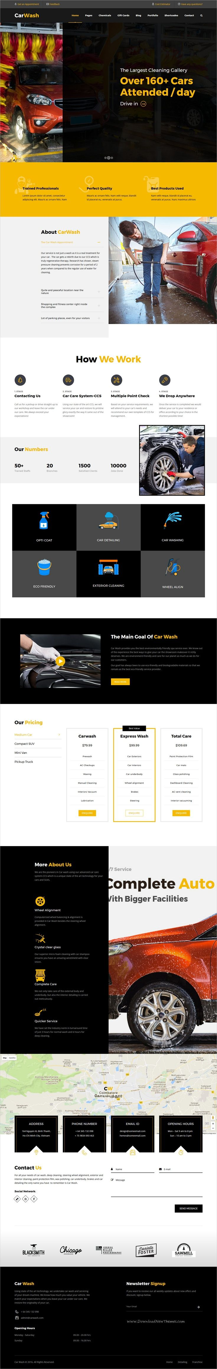Car Wash is clean and modern design responsive #WordPress theme for #car mechanic, #garage or auto #workshop service website download now..