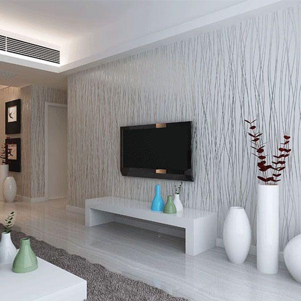 Best Fashion 10M Non Woven Flocking Vertical Stripe Wallpaper 640 x 480