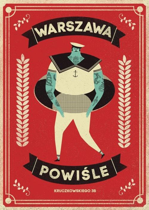 dawid ryski // warszawa powiśle | poster