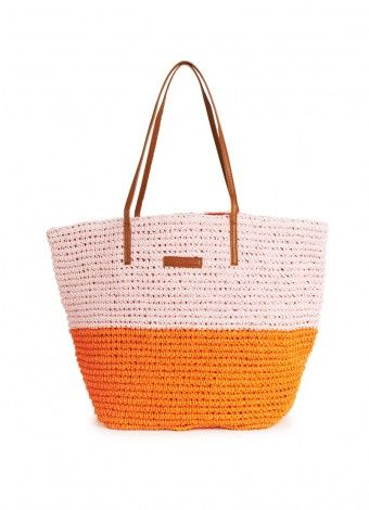 Seafolly Eden Tote in Coral. The perfect beach bag! | Seafolly ...