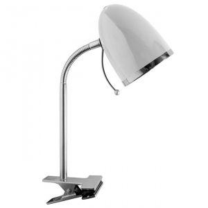 Lampe de bureau fixation sur pince Lelo blanche: luminaire de bureau à la fois beau et pas cher...