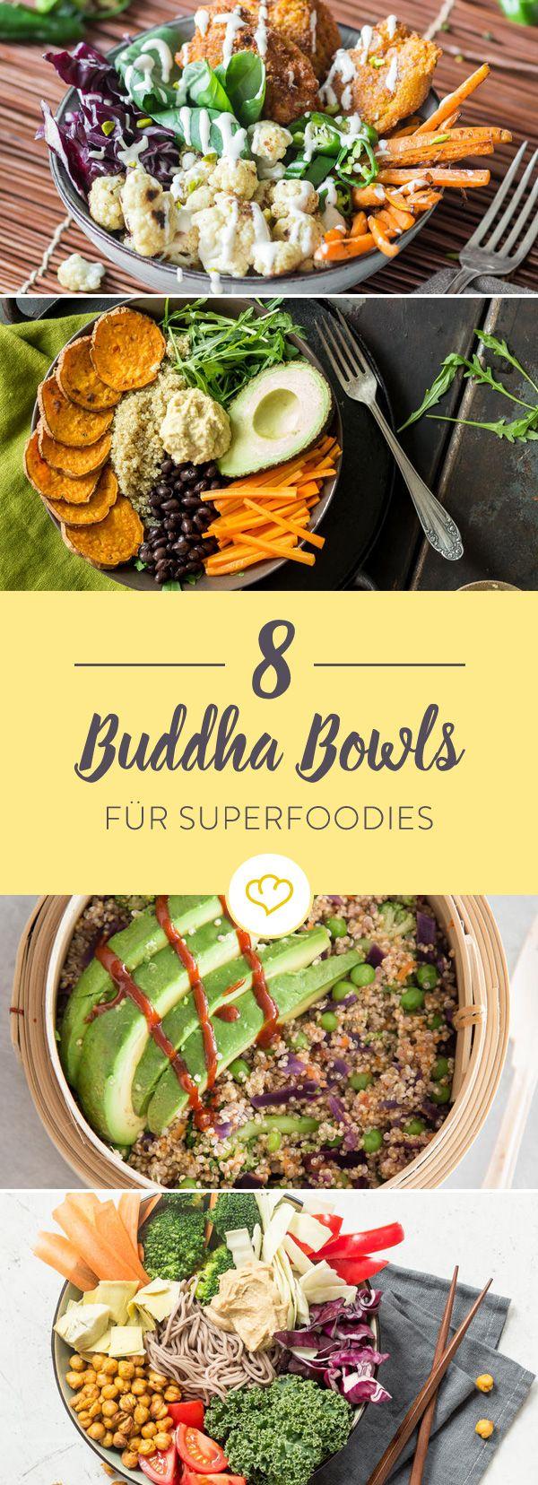 Buddha Bowls sind gesund, leicht abzuwandeln und sehen einfach toll aus. Und der Geschmack? Der kommt auch nicht zu kurz, wie diese 8 Buddha Bowls beweisen.