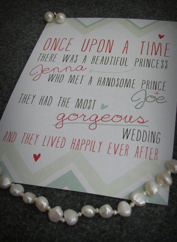CUSTOM PRINTABLE Fairytale Wedding Invitation - Mint/Aqua & Coral Chevron