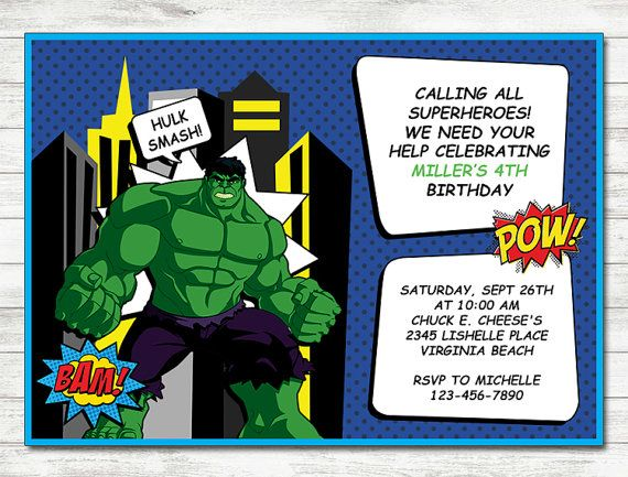 47 best incredible hulk images – Hulk Birthday Invitations