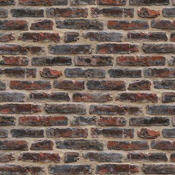Graham & Brown Vliesbehang 4001 Baksteen Rood | GAMMA Dit behang op de stootborden van de trap...